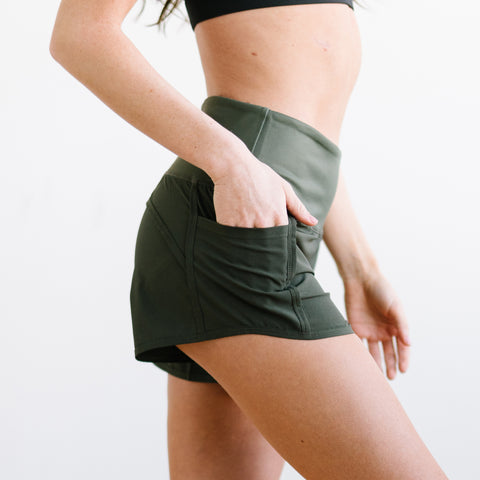 Elite Shorts - 3.5'' - Olive Green - Shorts - Maven Thread