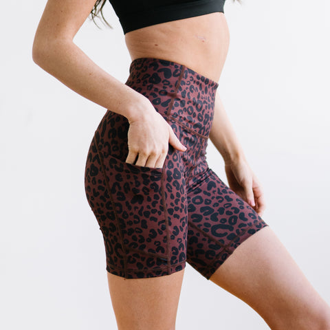 Biker Shorts - 6''- Cheetah | MT SPORT-Shorts-Maven Thread
