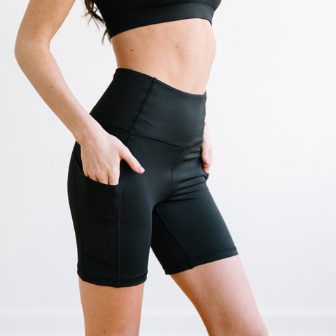 Biker Shorts - 6''- Black | MT SPORT - Shorts - Maven Thread