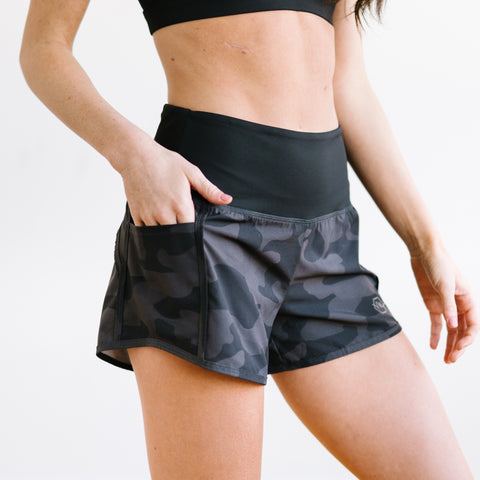 Elite Shorts - 3.5'' - Black Camo-Shorts-Maven Thread