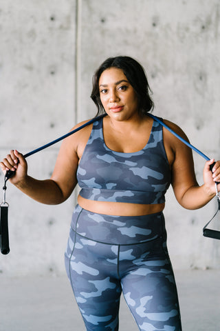 Fierce Bra - Navy Camo | MT SPORT - Sports Bra - Maven Thread