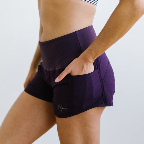 Elite Shorts - 3.5'' - Plum