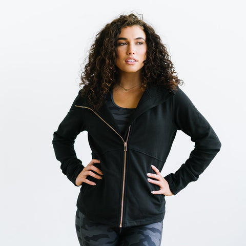 Ascend Zip Jacket - Black-Outerwear-Maven Thread