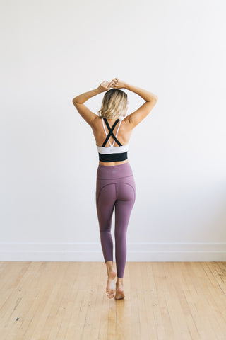 Focus Exercise Pants - Muted Plum | MT LUXE - Exercise Pant - Maven Thread