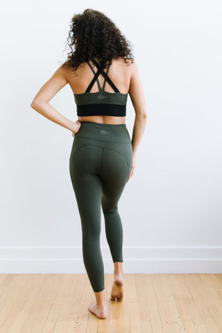 Focus Exercise Pants - Olive Green | MT LUXE