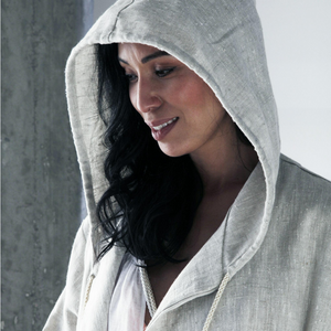 St. Tropez Hooded Linen Robe