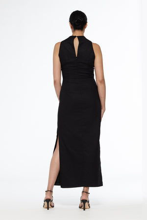 High Neck Maxi Dress