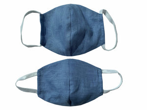 Whitney Linen Face Mask - Kid's