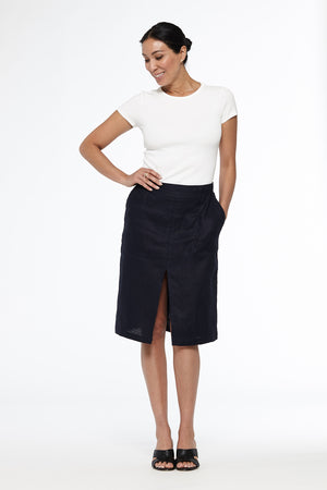 Patch Pocket A-Line Skirt