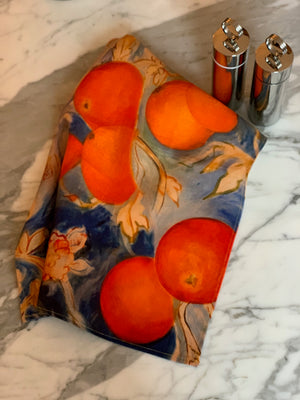 Oranges Tea Towel