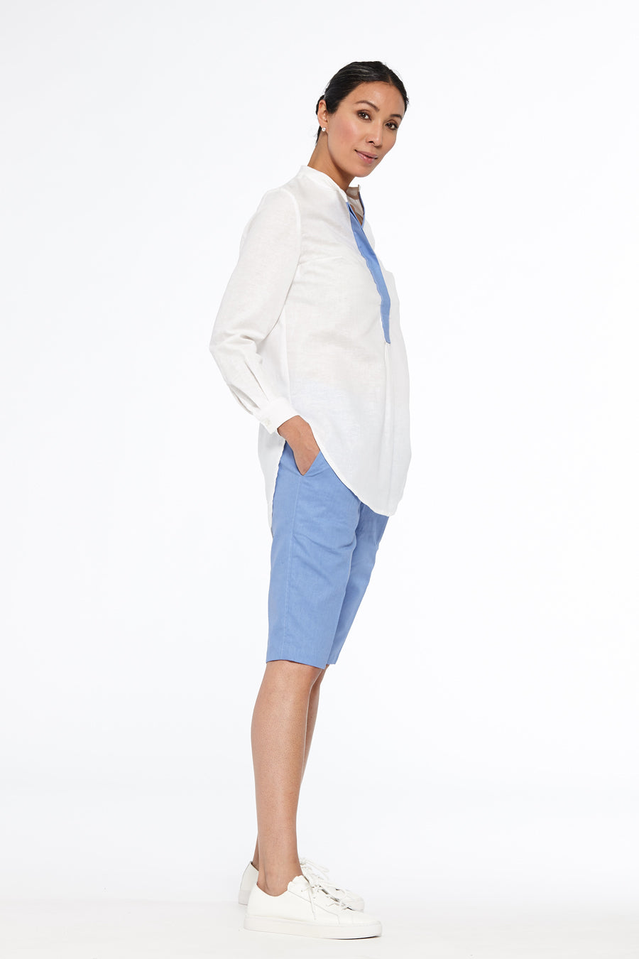 Athens Contrast Placket Tunic Shirt
