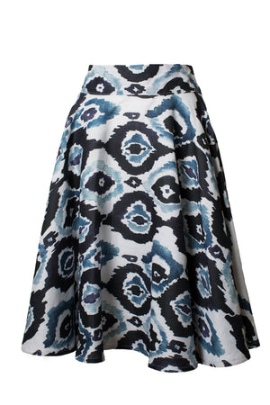 Valleta Printed Linen Skirt
