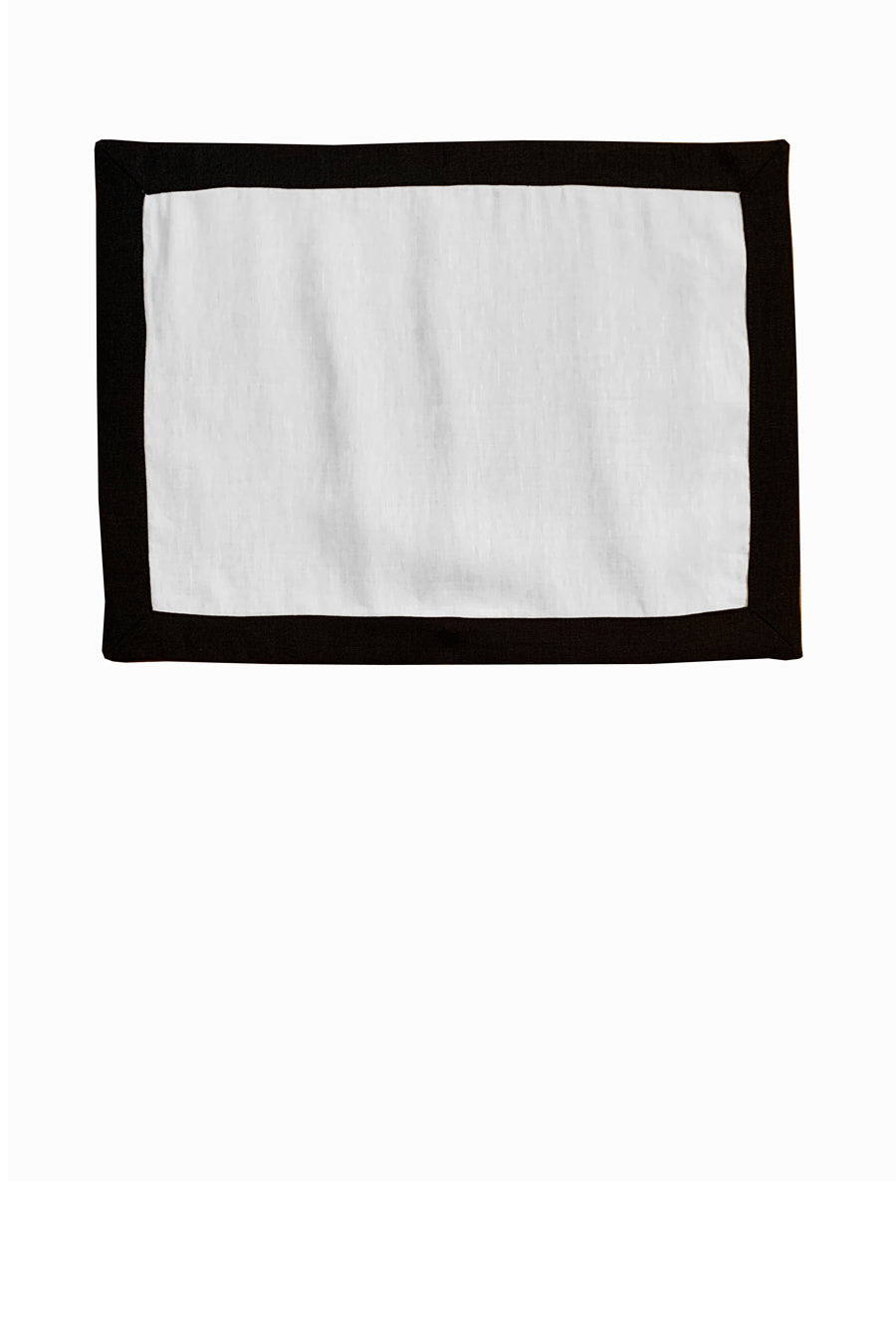 Set of 4 Contrast Border Placemat Black/White