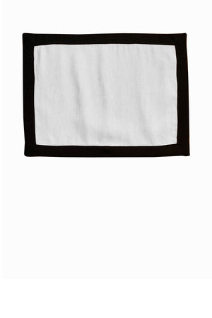 Contrast Border Placemat Black/White
