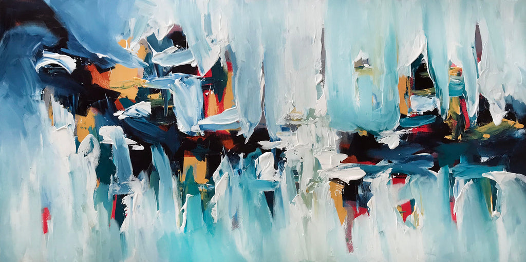 Daybreak Original Canvas Art Abstract Painting by Omar Obaid