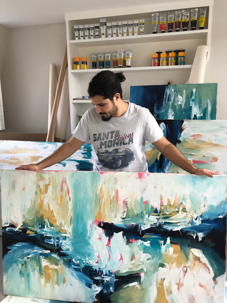 Omar Obaid At The Studio Original Artwork London