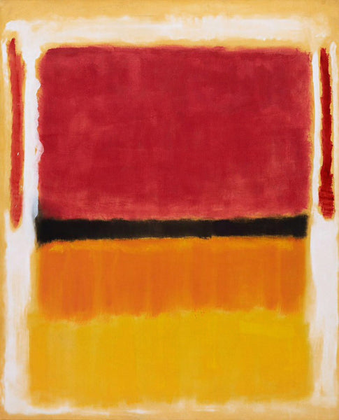 Mark Rothko Untitled (Violet, Black, Orange, Yellow on White and Red) original abstract painting