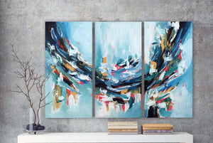 A Perfect Lie - 150x102 cm - Original Triptych Painting-OmarObaid.com