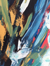 A Perfect Lie - 150x102 cm - Original Triptych Painting - Abstract Art By Omar Obaid - OmarObaid.com