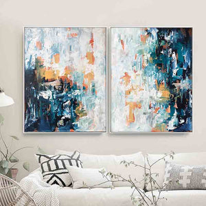 Mirage - 122x76 cm - Diptych Original Paintings