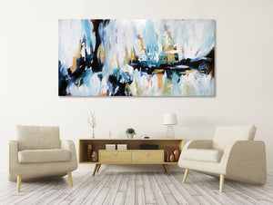 Another Rainy Day - 152x76 cm - Original Painting-OmarObaid.com