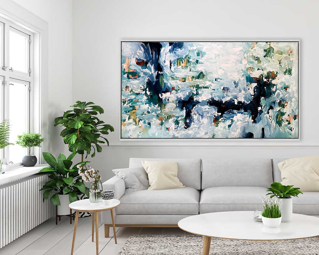 Wandering By The Pond - 180x90 cm - Original Painting