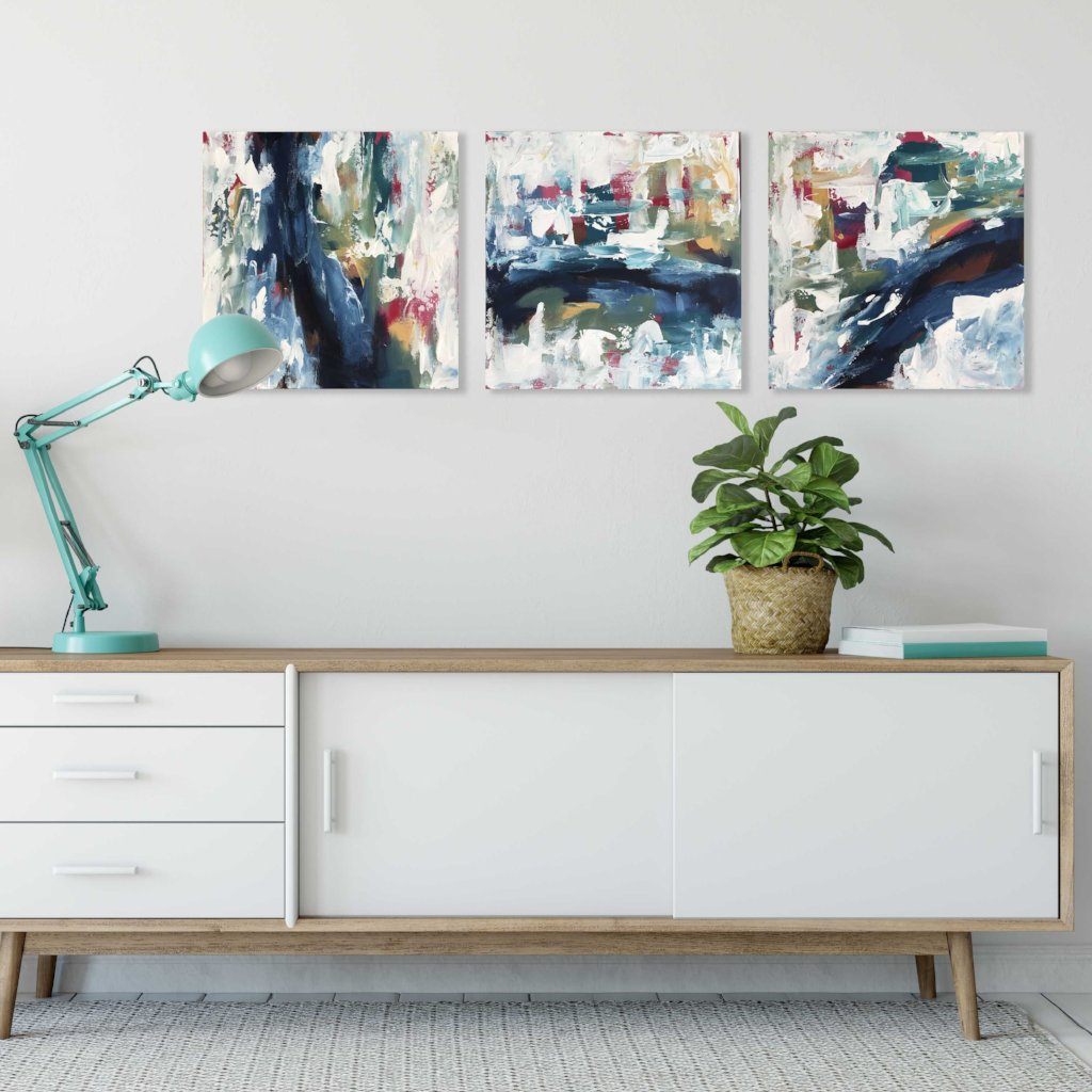 Beyond A Dream Triptych - Original Painting