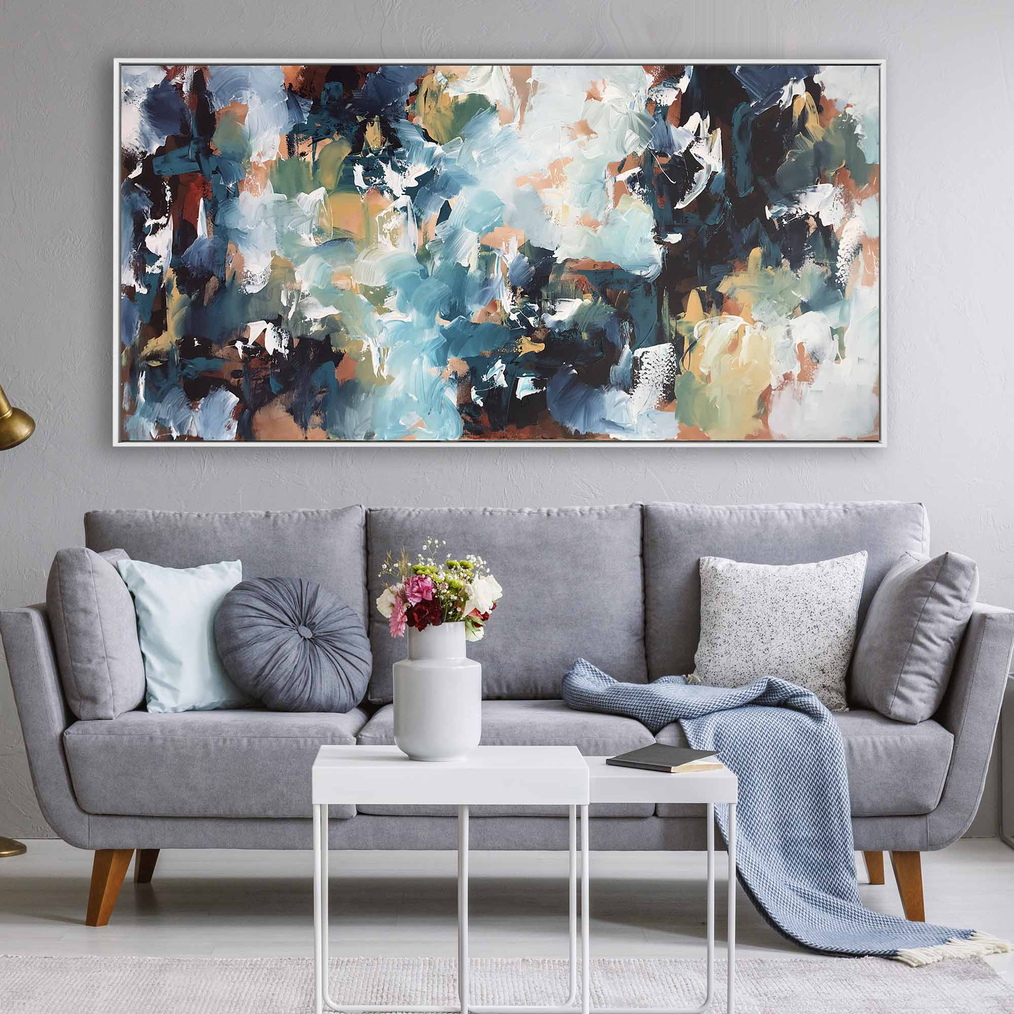 Listening To The Waves - 152x76 cm - Original Painting