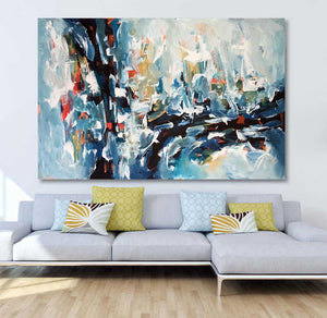 Cybernetic Dream - 150x100 cm - Original Painting-OmarObaid.com