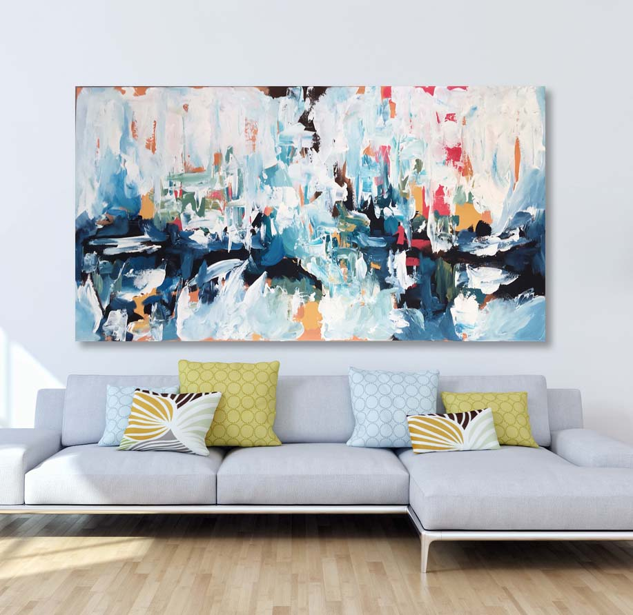 Daydreaming 4 - 150x76 cm - Original Painting - Abstract Art By Omar Obaid - OmarObaid.com
