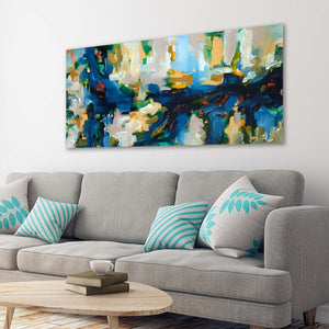 Autumn Leaves 2 - 152x76 cm - Original Painting