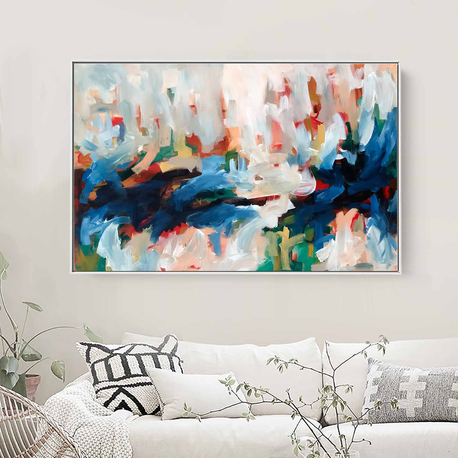 Autumn Leaves 3 - 117x76 cm - Original Painting