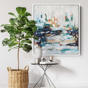 The Pond - 92x102 cm - Original Painting