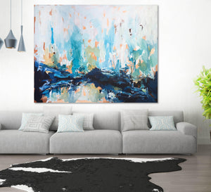 After The Fall - 150x120 cm - Original Painting-OmarObaid.com
