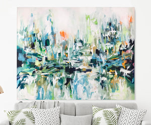 So Far Away - 152x120 cm - Original Painting-OmarObaid.com