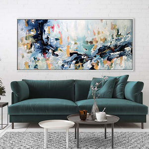 The Flow Of The River - 180x80 cm - Original Painting
