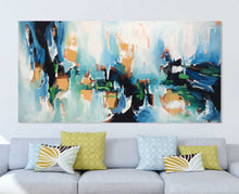 Abstraction No1 - 152x76 cm - Original Painting - Abstract Art By Omar Obaid - OmarObaid.com