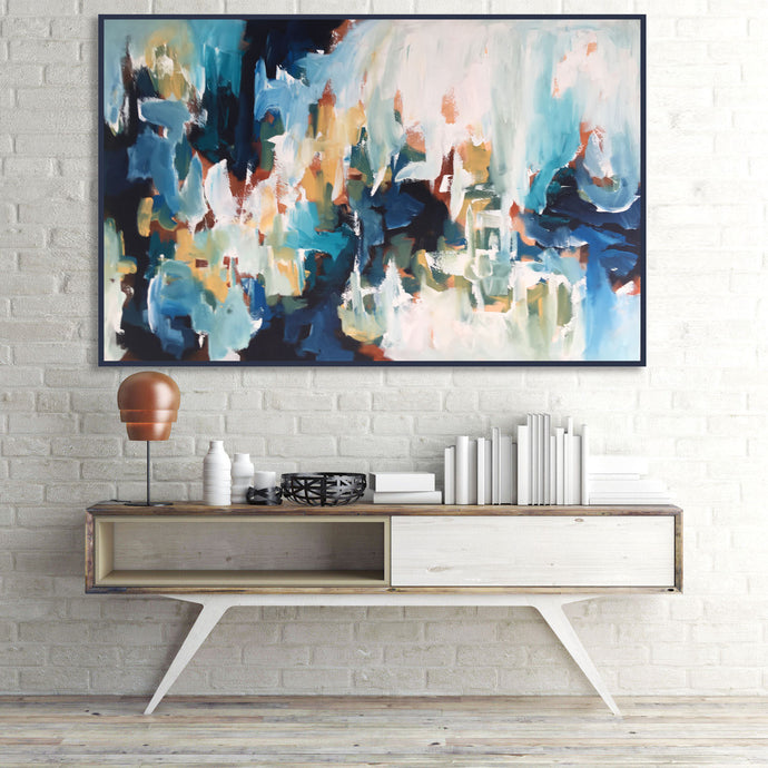 Revelations - 127x80 cm - Original Painting - Abstract Art By Omar Obaid - OmarObaid.com