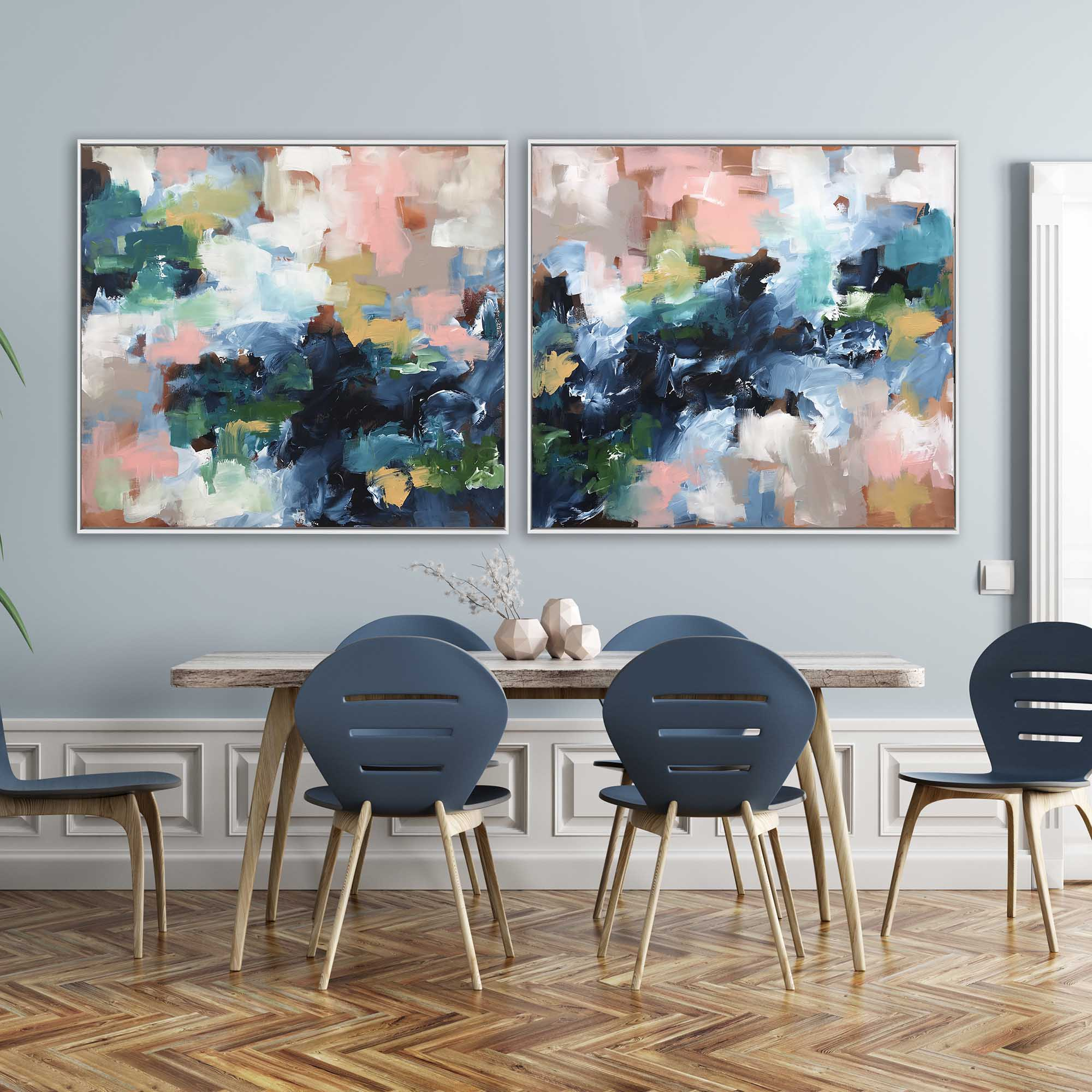 Adapting To The Unknown - 204x92 cm - Diptych Original Painting