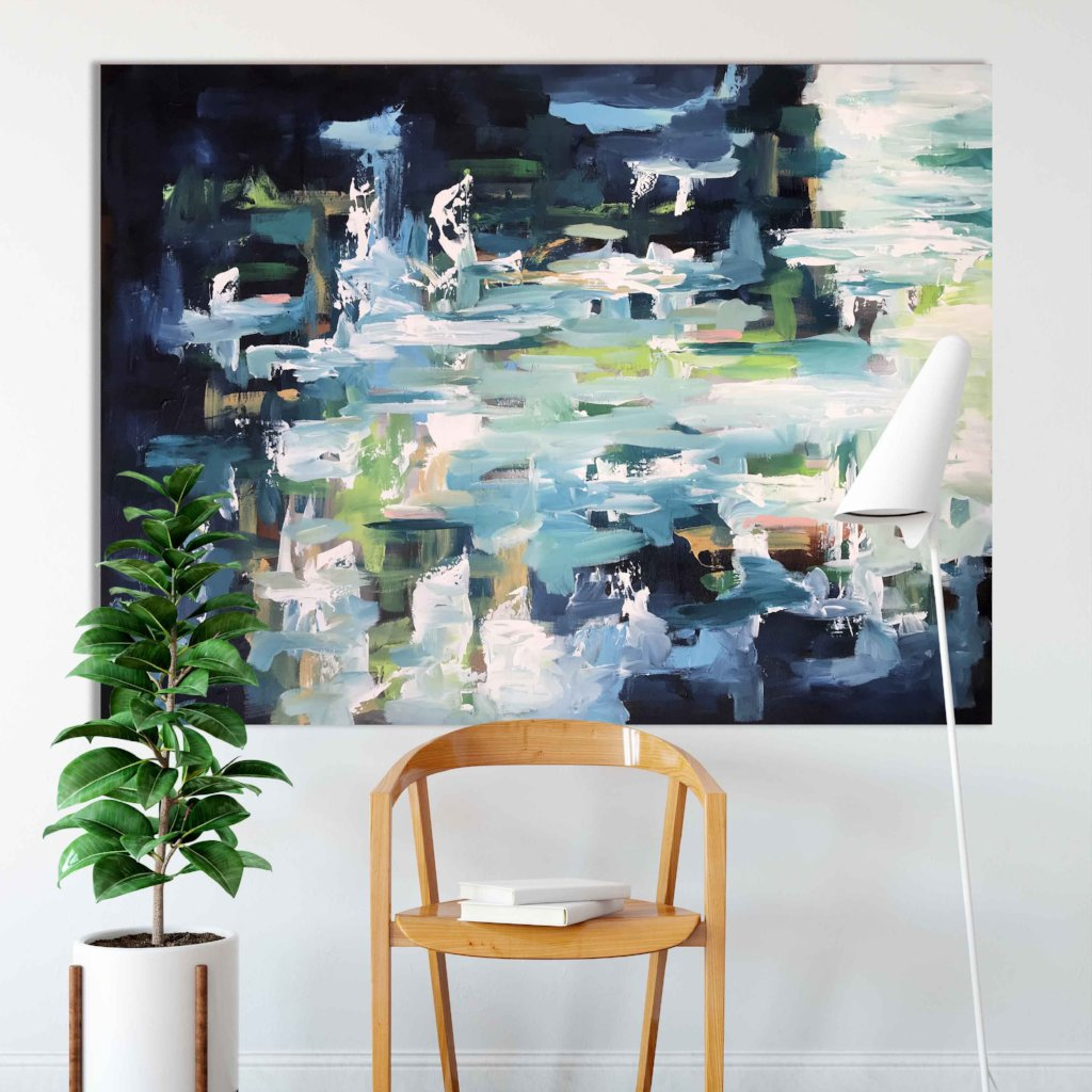 Soundless Landscape - 122x90 cm - Original Painting
