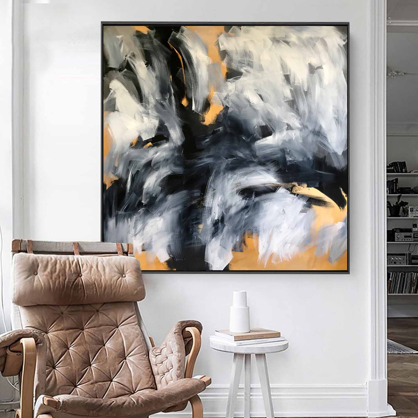 On The Edge - 122x122 cm - Original Painting