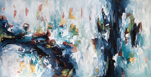 The Waterfall 2 - 152x76 cm - Original Painting