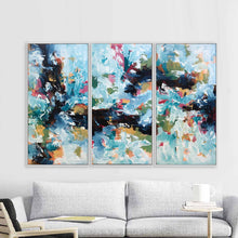 Load image into Gallery viewer, The Uncertain Path - 150x102 cm - Triptych Original Paintings