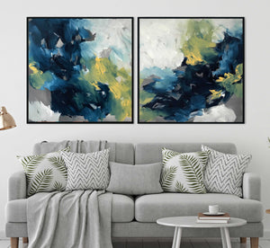 Turning Tide Diptych - 204x102 cm - Original Painting