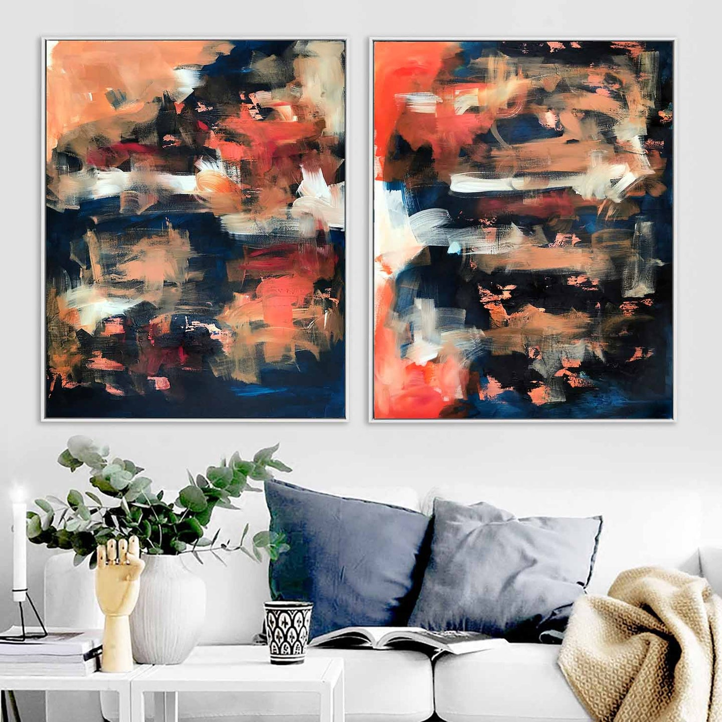 The Untold Story - 160x102 cm - Diptych Original Paintings