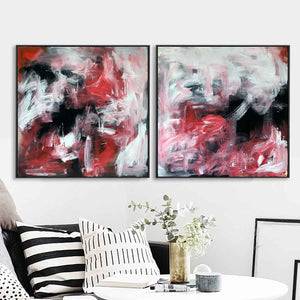 Drifting - 152x76 cm - Diptych Original Paintings
