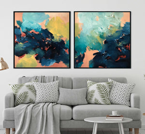 Lost In Time Diptych - 204x102 cm - Original Painting