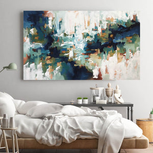 The Echoes Of The Lake - 152x90 cm - Original Painting