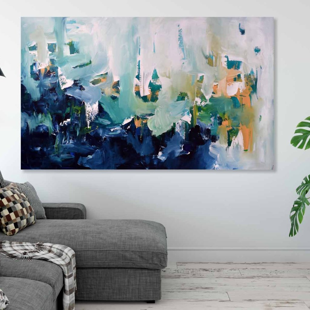 The Lake - 152x90 cm - Original Painting-OmarObaid.com