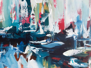 Under The Surface - 180x90 cm - Original Painting-OmarObaid.com